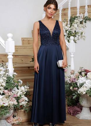 🔥new🔥 синее вечернее платье