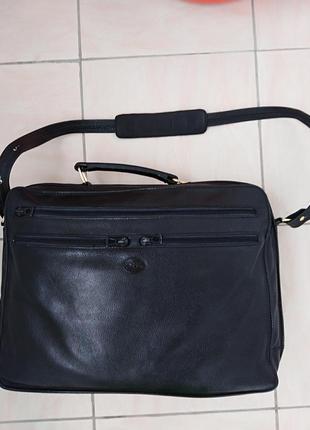 Кожаная  сумка-чемодан  longchamp  paris.