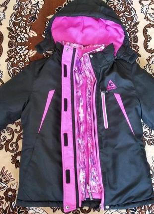 Курточка для девочки (2 в одном — зима, весна-осень)