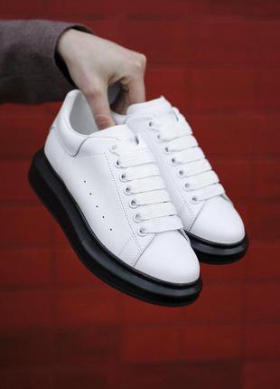 Кроссовки унисекс alexander mcqueen white/black 2.0