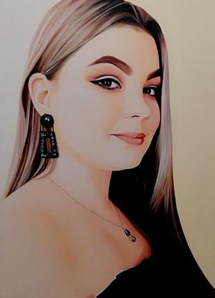 Портрет на замовлення в техніці олійного живопису.