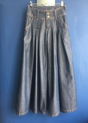 Шикарные джинсы-палаццо, юбка-брюки