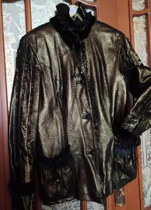 Куртка кожаная Culliano Bravo,с отделкой из норки,пр-ва Италия