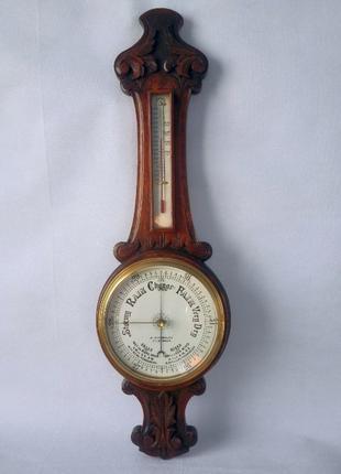 *81 см*Большой английский барометр с фарфоровым циферблатом