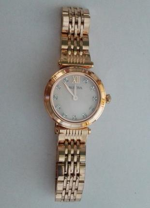 BULOVA оригинальные женские часы в позолоте