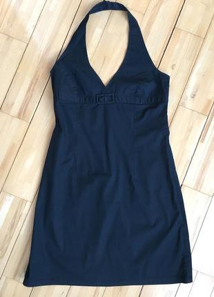 Хлопковое платье с открытой спиной