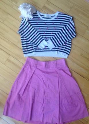 Хлопковая юбка violet