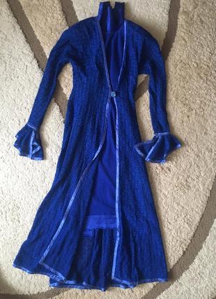 Комплект из платья и кардигана