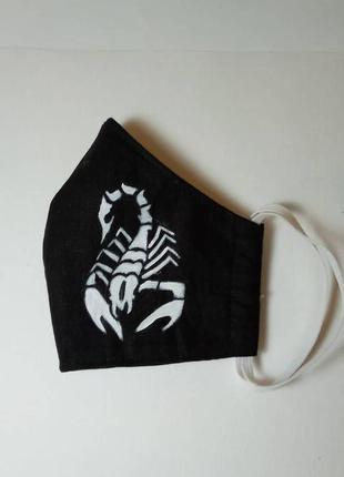 Защитная маска из хб ткани.