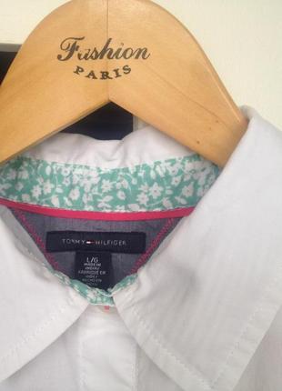 Хлопковая рубашка tommy hilfiger