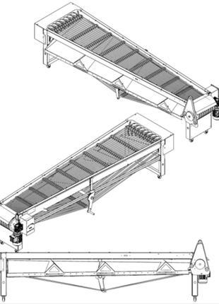 Линейный калиброватель для сортировки вишни
