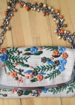 Сумочка-клатч rafe с цветочной вышивкой