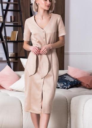 Стильное платье миди эко-замша разные цвета