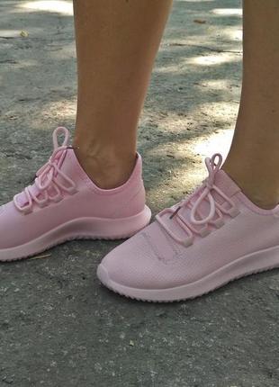 Кроссовки женские под Adidas Tubular, розовые,36,37