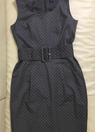 Платье сарафан в горошек от h&m