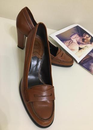 Туфли лодочки кожа zara