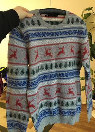 Пуловер we скандинавский узор с шерстью