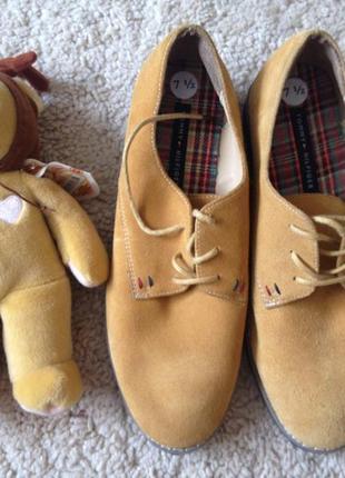 Ботинки из замши tommy hilfiger
