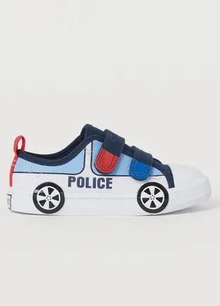 Кеды для мальчика машинка police 200501