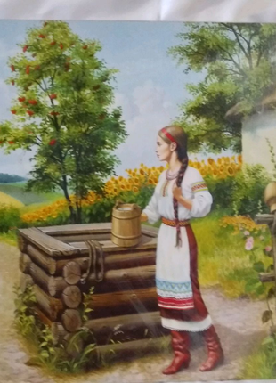 """Картина репродукция """"Ожидание"""" 40x 50 см.,безрамная"""