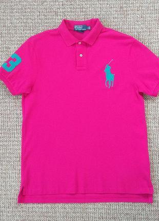 Ralph lauren поло футболка slim fit оригинал (l)