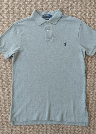 Ralph lauren поло футболка slim fit оригинал (m)