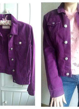 Джинсовая стильная куртка от cache cache. джинсовка. пиджак