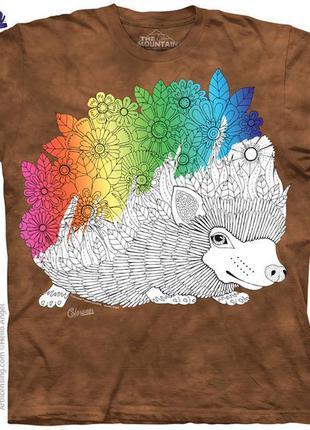 The mountain футболка раскраска антистресс, оригинал сша