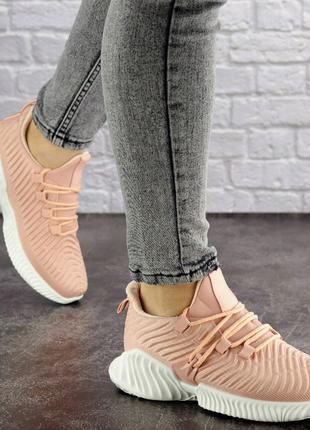 Женские пудровые кроссовки Pink