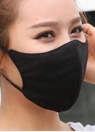 Многоразовая маска черная
