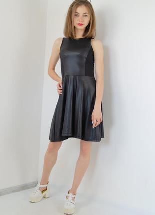 Sinsay мини платье из искусственной кожи а-силуэта, из еко, эк...