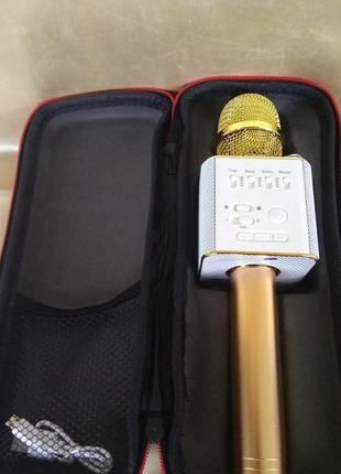 Микрофон Karaoke Q9  (USB, FM, AUX, Bluetooth)