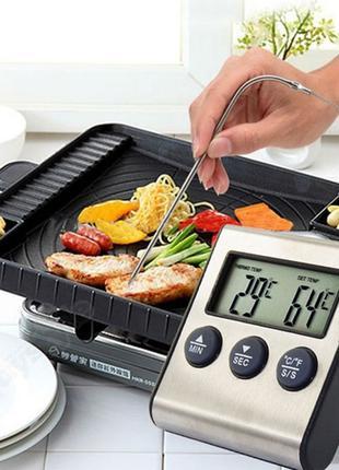 Кухонный термометр, градусник с таймером и звуковым сигналом