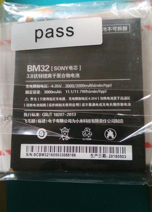 BM32 XIAOMI mi4 акумулятор 3000mah 3080mah original оригинал sony