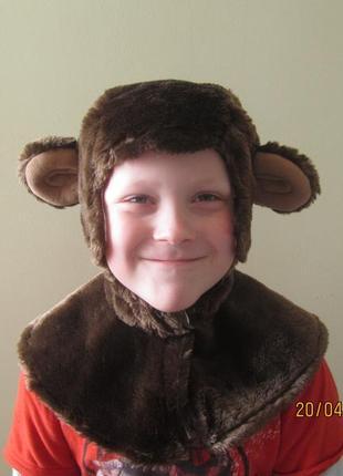 """Шапка-маска """"обезьянка"""" деткам 5-7 лет с хлопковой подкладкой ..."""
