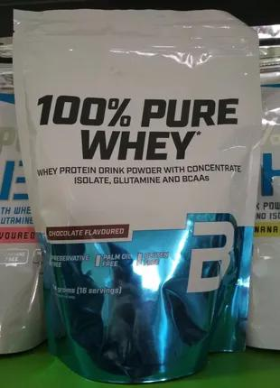 Сывороточный протеин, BioTech USA 100% Pure Whey, 454 г,