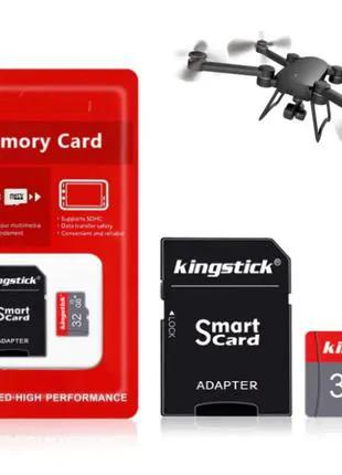 Карта памяти 32 ГБ MicroSD флешка Class 10