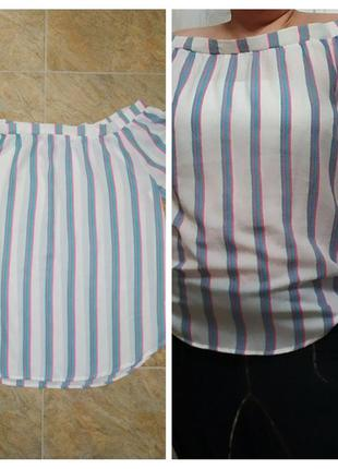 Нарядная полупрозрачная блуза,туника с открытыми  плечами,uk-22