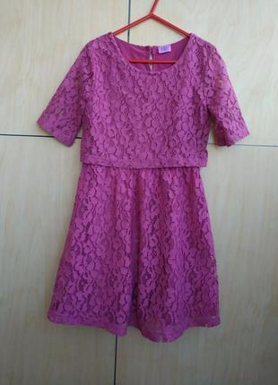 Кружевное платье f&f на 8-9 лет