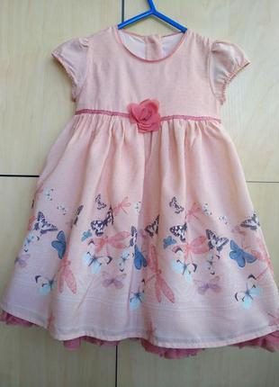 Нарядное платье m&s на 1,5 года