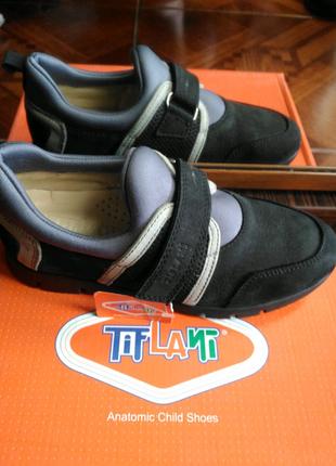 Подростковые кожаные кроссовки