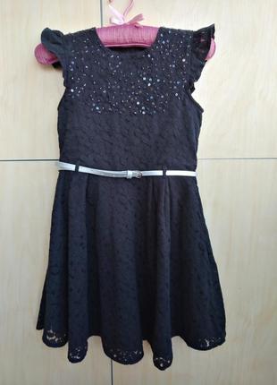 Кружевное платье george на 8-9 лет