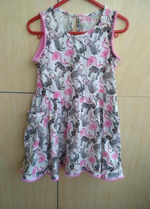 Платье сарафанчик nutmeg на 2-3 года