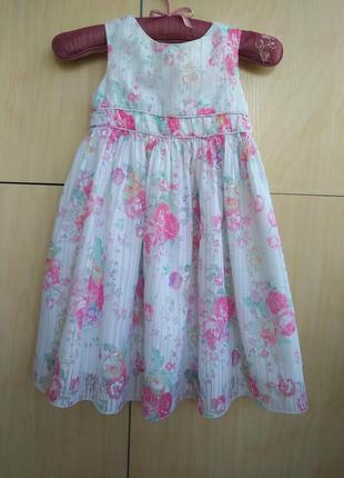 Нарядное платье cherokee на 4-5 лет