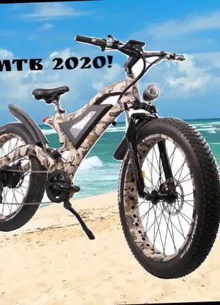 Уникальный электрический горный велосипед 500W. Фэтбайк MTB 2020!