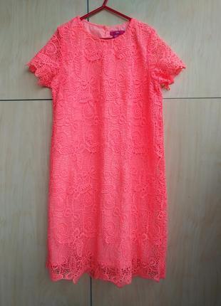 Ажурное платье y.d на 12-13 лет