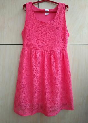 Кружевное платье на 10-12 лет