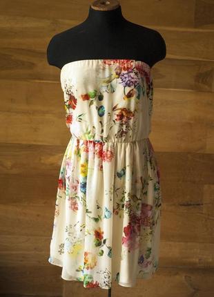 Очень красивое короткое летнее платье zara, размер м