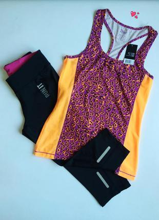 Комплект crivit спортивный майка и капри спорт, одежда для фит...