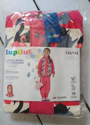 Непромокаемая красивая куртка дождевик для девочки 122 128 lup...